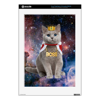 king cat in the space PS3 console skin