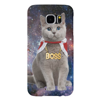 king cat in the space samsung galaxy s6 case