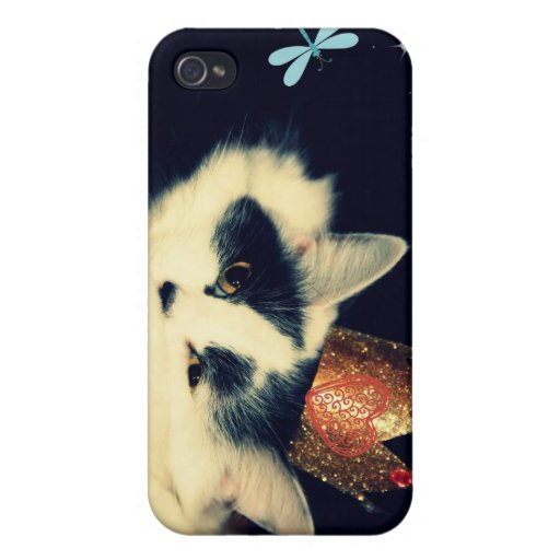 King Cat iPhone 4 Cover