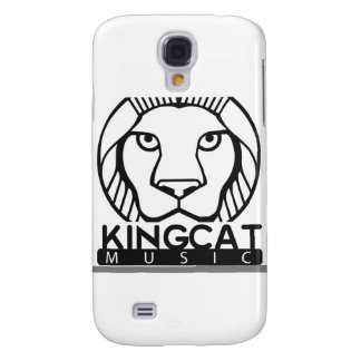 King Cat Music Black and White Logo Galaxy S4 Cover