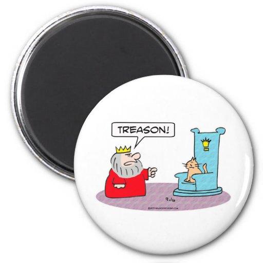 king cat throne treason 2 inch round magnet