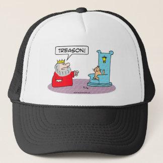 king cat throne treason trucker hat