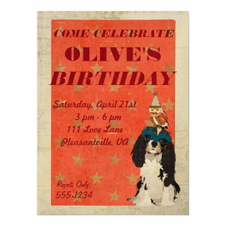 KING CAVALIER & OWL BIRTHDAY INVITATION