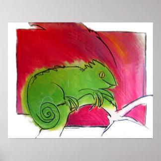 King Chameleon Poster