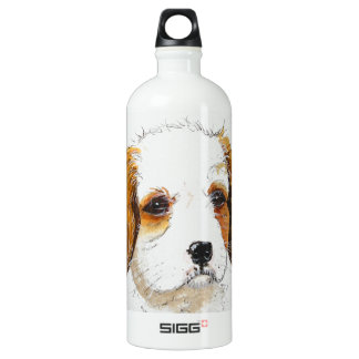 King Chareles spaniel puppy dog Aluminum Water Bottle