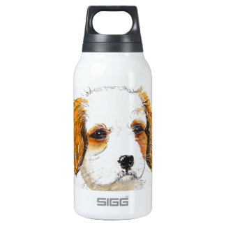 King Chareles spaniel puppy dog Insulated Water Bottle