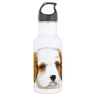 King Chareles spaniel puppy dog Stainless Steel Water Bottle