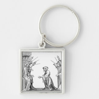 King Charlemagne (742-814) receiving the Oath of F Keychain