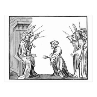 King Charlemagne (742-814) receiving the Oath of F Postcard