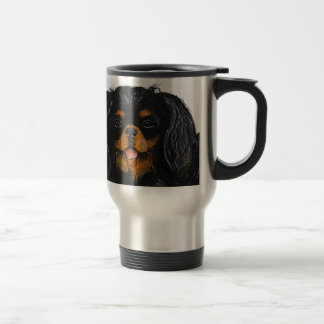 King Charles Cavalier Spaniel black and tan Travel Mug