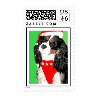 King Charles Cavalier Spaniel Christmas Stamp