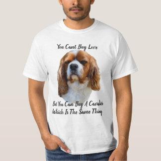 King Charles Cavalier Spaniel Dog Face And Logo, T-Shirt