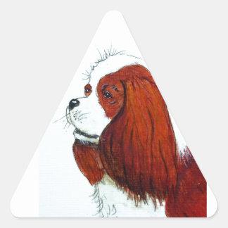 King Charles Cavalier Spaniel Triangle Sticker