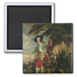 King Charles I  of England out Hunting, c.1635 Magnet