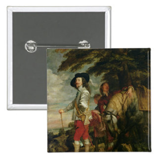 King Charles I  of England out Hunting, c.1635 Pinback Button