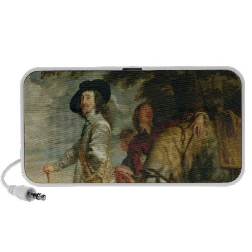 King Charles I  of England out Hunting, c.1635 iPhone Speakers