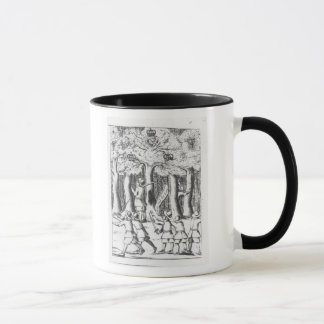 King Charles II  hiding in an oak tree Mug