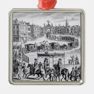 King Charles II Metal Ornament