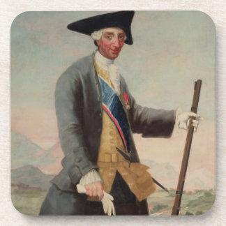 King Charles III (1716-88) as a Huntsman, 1786/88 Coasters