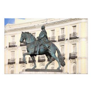 King Charles III Monument in Madrid Art Photo