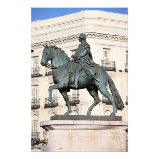 King Charles III Statue in Madrid Photo Print