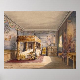 King Charles Room, Cotehele House, c.1830-40, (col Poster