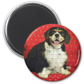 KING CHARLES SPANIAL 2 INCH ROUND MAGNET