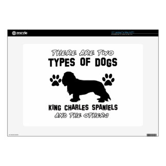 KING CHARLES SPANIEL dog breed designs Decal For Laptop