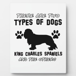 KING CHARLES SPANIEL dog breed designs Plaque