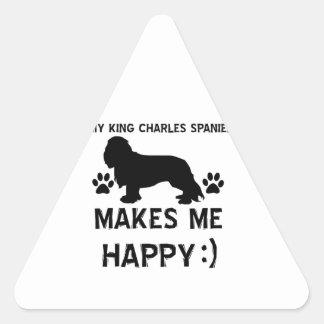 King Charles Spaniel dog designs Triangle Sticker