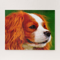 King Charles Spaniel Dog. Jigsaw Puzzle