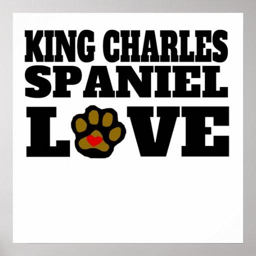 King Charles Spaniel Love Poster