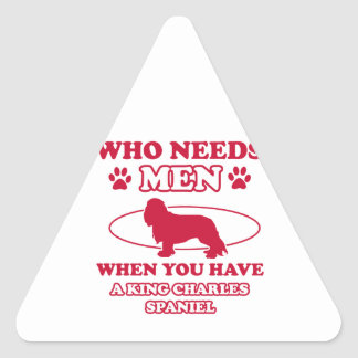 king charles spaniel mommy designs triangle sticker