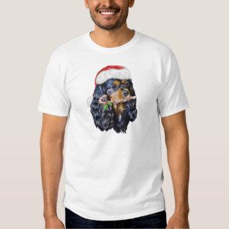 King Charles Spaniel Santa T-shirt