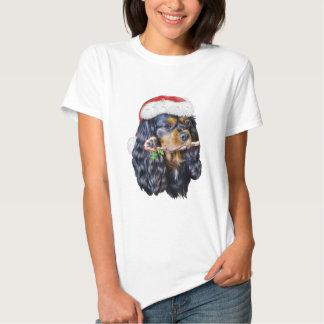 King Charles Spaniel Santa Tee Shirt
