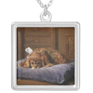 King Charles Spaniel Silver Plated Necklace