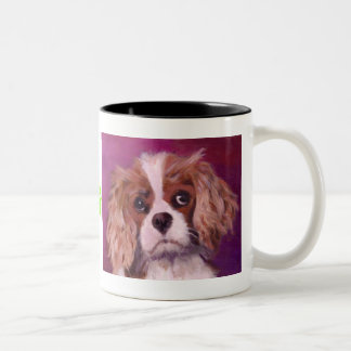 King Charles Spaniel Two-Tone Coffee Mug