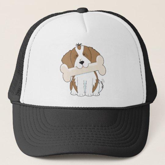 King Charles with Bone Trucker Hat