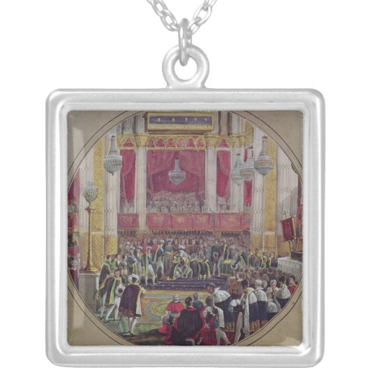 King Charles X  receiving the Knights Silver Plated Necklace
