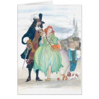 King Charless II & Nell Gywn Card