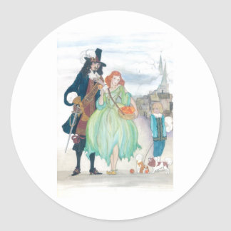 King Charless II & Nell Gywn Classic Round Sticker