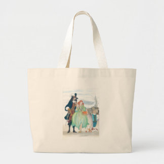 King Charless II & Nell Gywn Large Tote Bag
