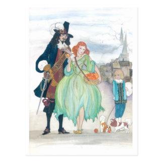 King Charless II & Nell Gywn Postcard