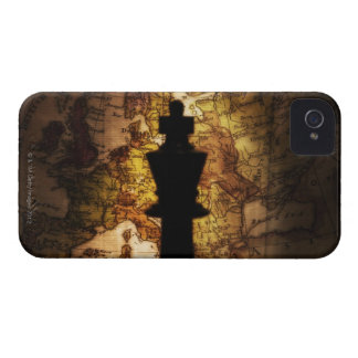 King chess piece on old world map iPhone 4 cover