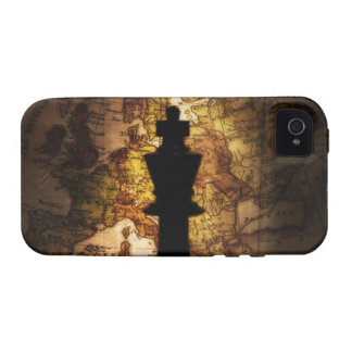 King chess piece on old world map iPhone 4 case