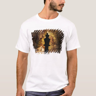 King chess piece on old world map T-Shirt