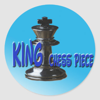 King Chess Piece With Background Classic Round Sticker