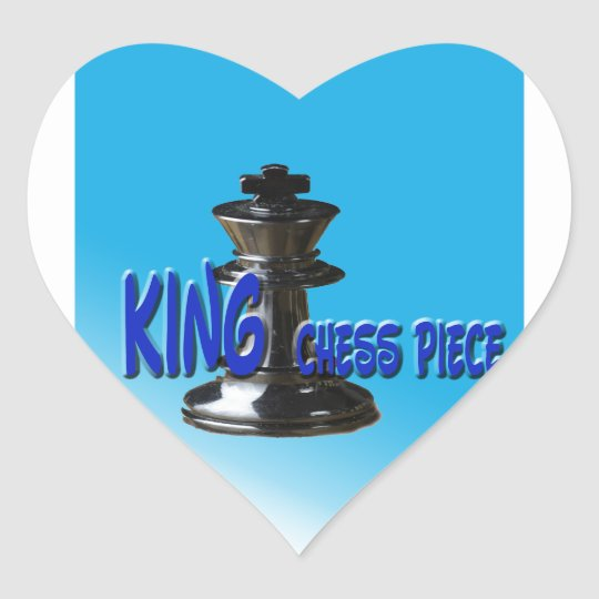 King Chess Piece With Background Heart Sticker