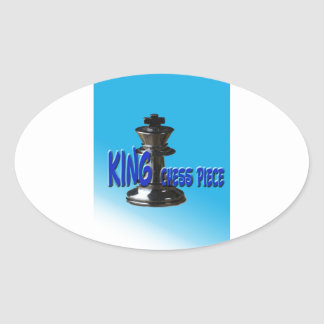 King Chess Piece With Background Oval Sticker