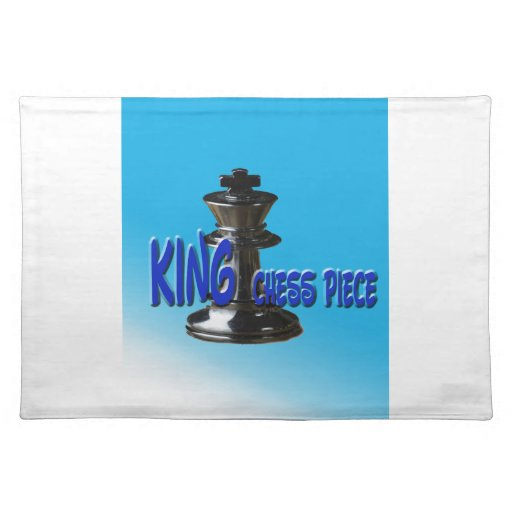 King Chess Piece With Background Place Mats